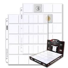 Pocket Pages Bcw Pro 20 Pocket Page 100 Ct Box Bcw Supplies