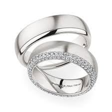 christian bauer wedding rings christian bauer wedding rings 18 carat white gold 48 brilliants