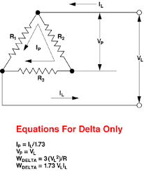 watlow reference equations delta and wye circuit equations