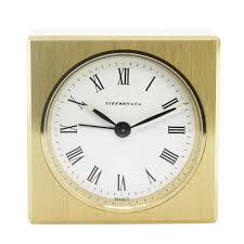 tiffany u0026 co solid brass square alarm desk table clock