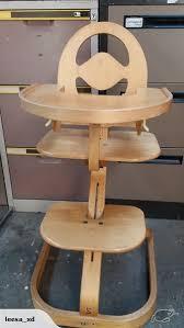 Swedish Wooden High Chair Swedish Svan Bentwood Designer High Chair Trade Me