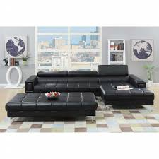 bonded leather sectional sofa px 2 pcs black bonded leather sectional sofa shop your way online