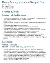 Sample Dental Office Manager Resume by 16 Free Sample Dental Manager Resume U2013 Sample Resumes 2016