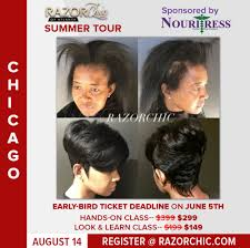 pictures of razor chic hairstyles razor chic of atlanta summer tour chicago il august 14 2017