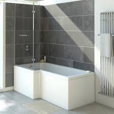 trojancast solarna reinforced l shaped shower bath 1500 x 850