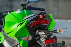 ninja 300 integrated tail light 2018 kawasaki ninja 400 first ride rideapart
