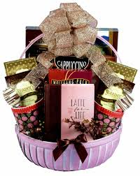 gift basket for women you a latte coffee gift basket for