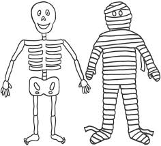 mummy friend skeleton funny coloring download