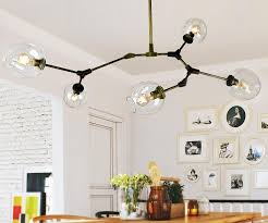 discount dna molecule glass metal quality led lights pendant