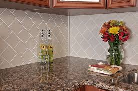 Kitchen Countertop Tile Backsplash Options Glass Ceramic Tile Or Grout Free Corian