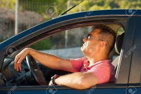 Cool Stock by Latin Guy Inside His Car Trying To Look Cool Stock Photo Picture