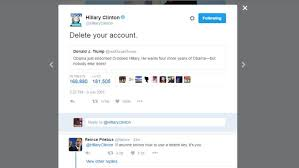 Tweet Meme - hillary s delete your account tweet ushers in the meme caign