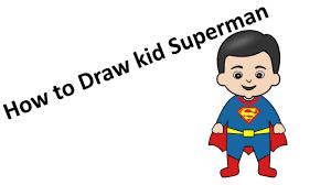 kid superman drawing