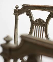 Esszimmerst Le Vintage Vier Antike Lyra Stühle
