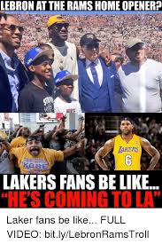 Funny Lakers Memes - lebron at the ramshome opener gnbamemes lakers thank gide lakers