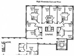 Dorm Floor Plans by High Mountain East And West William Paterson University