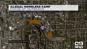 Seattle Police Map Seattle Preparing For Intensive Outreach At Illegal Homeless Camp