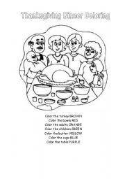 english teaching worksheets thanksgiving day