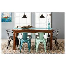 target dining room tables carlisle metal dining chair set of 2 mint green target