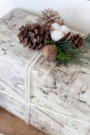 birch wrapping paper christmas decorating in the living room by the