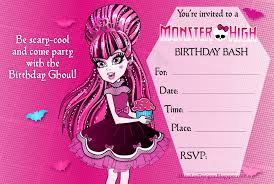 template monster high party invitations nz together with free