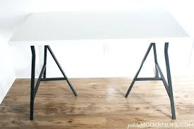 Diy Trestle Desk Desk Chrome Trestle Desk Legs Trestle Table Legs Diy Glass Top
