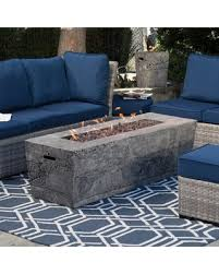 Patio Furniture With Gas Fire Pit by Spring Savings On Red Ember Glacier Stone 60 In Gas Fire Pit