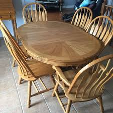 find more solid oak dining table includes 6 chairs 2 captain