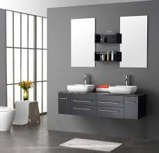clever bathroom wall cabinets design ideas chloeelan awesome bathroom aplying grey accent wall color completed with cabinets between mirrors and furnished