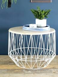 wire and wood basket side table side tables basket side table black metal wire basket wooden top