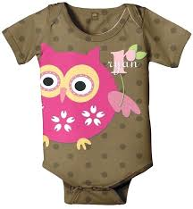 monogramed items owl themed baby items owl baby personalized brown polka dot
