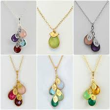 birthstone necklaces for mothers cascading personalized birthstone necklace 3 birthstones