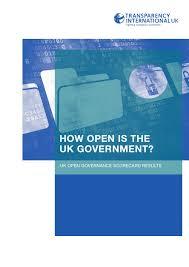 how open is the uk government uk open governance scorecard