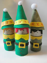 christmas elf craft made from toilet paper rolls toilet paper
