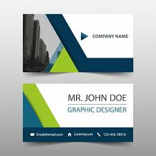 Business Card Design Psd File Free Download Name Card Simple Business Card Green And Blue Color Name Card