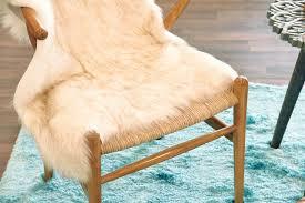 fur chair cover ivory beige white faux sheepskin boho fur rug chair cover
