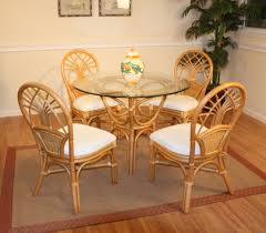wicker dining room chairs rattan dining set of 5 jupiter