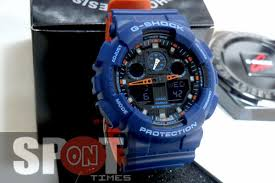light blue g shock watch ga 100l 2a blue g shock casio watches 200m resin band analog digital