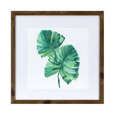 wood frame wall decor leaves wood framed wall