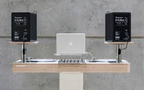 Desk Studio Monitor Stands by Nineteen Hoerboard U2013 Pro Audio U0026 Dj Furniture