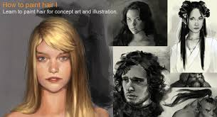 how to paint hair