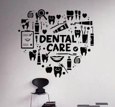 dental care wall decal dentist vinyl sticker wall art decor home