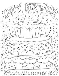 happy birthday coloring card coloring pages birthday coloring sheets coloring pages for