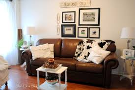 Brown Leather Couch Interior Design Ideas Rustic Maple April 2013
