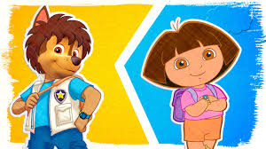 go diego go u0026 dora the explorer as paw patrol fun coloring