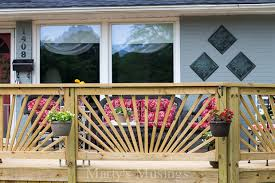 How To Build A Banister Make Your Deck Unique With A Sunburst Deck Railing Hometalk