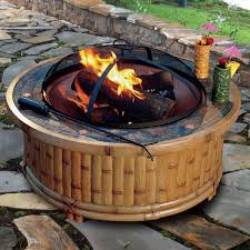 fire pit wood deck tiki wood fire pit 36 outdoor deck backyard patio firepit burning