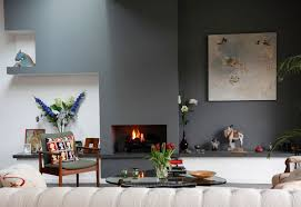 amazing living room interior design alongside simple grey wall
