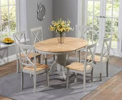 epsom oak and grey pedestal extending dining set with chairs the