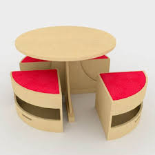 kids play table and chairs play table 3d model formfonts 3d models textures